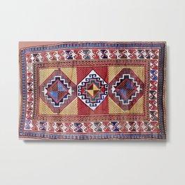 Kazak  Antique South West Caucasus Tribal Rug Print Metal Print