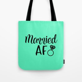Married AF - Mint Tote Bag