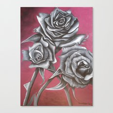 Cloaked in Crimson Canvas Print