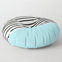Sky Blue x Stripes Floor Pillow
