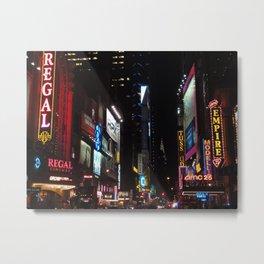 42nd Street by night, NYC Metal Print