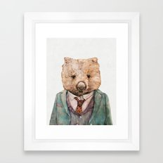 Wombat Framed Art Print