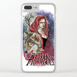 Red Hood And The Wolf Clear iPhone Case