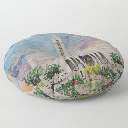 Draper Utah LDS Temple Floor Pillow