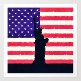 Patriotic American Flag Art Print