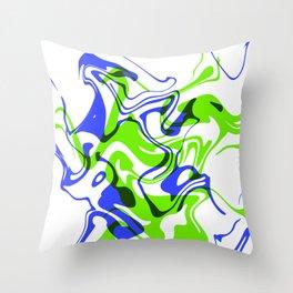 """AGILITY – 20"""" x 20"""" (50 x 50 cm), abstract art Throw Pillow"""