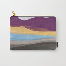 Dream Mountain / colorful mountains/ abstract layers/ purple  Carry-All Pouch