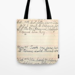The Day My Grandpa Was Born Tote Bag