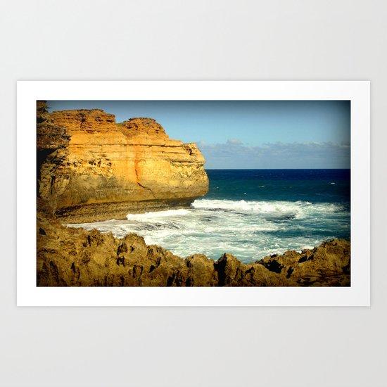 The rugged Coastline Art Print