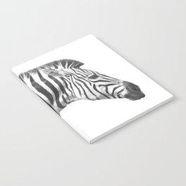 Black and White Zebra Profile Notebook