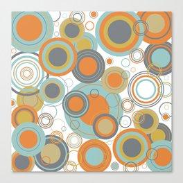 Retro Mid Century Modern Circles Geometric Bubbles Pattern Canvas Print