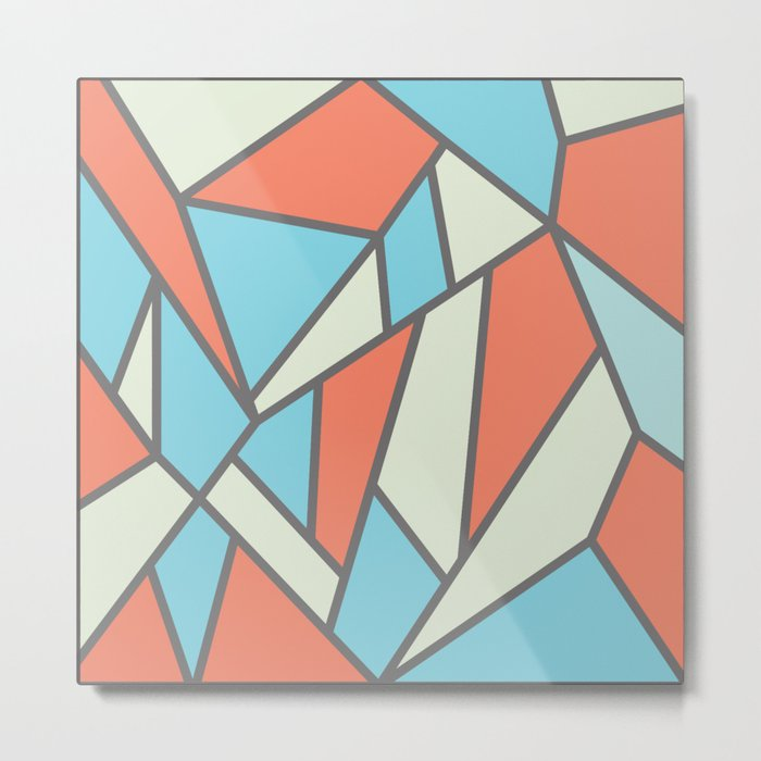 Geometric Colour Pattern V3 Metal Print