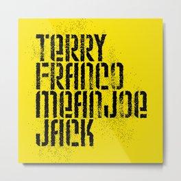 Terry Franco Mean Joe Jack / Gold Metal Print