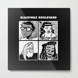 Blackwax Boulevard Album Cover  Metal Print