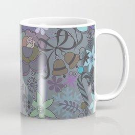 Colorful grey xmas pattern Coffee Mug