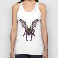 dark souls Tank Tops featuring Gaping Dragon (Dark Souls) by Strange things collection