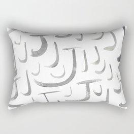 Watercolor J's - Grey Gray Rectangular Pillow