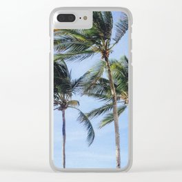 Caribbean Palm Trees in Puerto Rico Clear iPhone Case