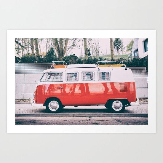 Combi car 4 Art Print