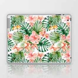 Tropical Jungle Hibiscus Flowers - Floral Laptop & iPad Skin