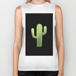Simple Green Cactus on Black Biker Tank