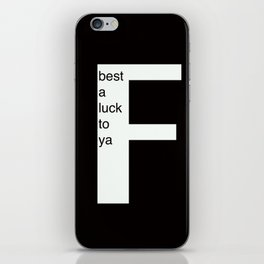 Frankie iPhone Skin