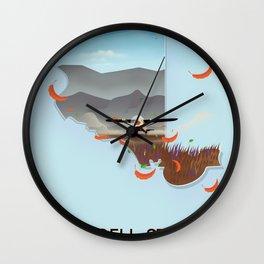 Wrangell-St. Elias National Park Alaska poster Wall Clock