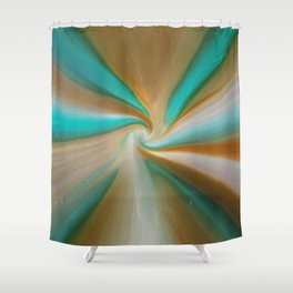 Blue green and brown art Shower Curtain