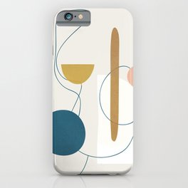 Free Abstract Shapes II iPhone Case