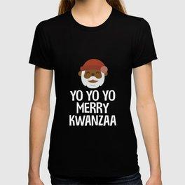 Yo Yo Yo Merry Kwanzaa Black Santa Funny CT Shirt, Tee, Unisex T Shirt, unique, funny, graelebration T-shirt