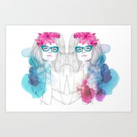glasses Art Prints featuring Glasses by Camis Gray
