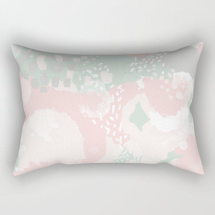 Alexei - abstract minimal modern painting splash dots stripes painterly art Rectangular Pillow