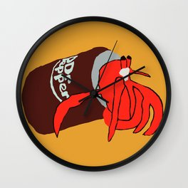 Hermit Crab In A Can Wall Clock