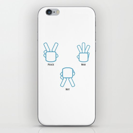 Peace Not War iPhone & iPod Skin