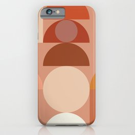 Geometric terracotta VII iPhone Case