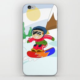 Winter Sports: Snowboarding iPhone Skin