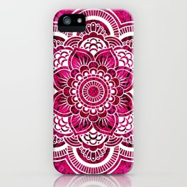 Mandala Hot Pink Colorburst iPhone Case