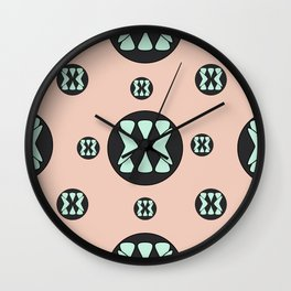 coco triangles Wall Clock