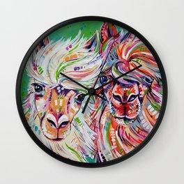 Hello - Alpaca Painting Wall Clock