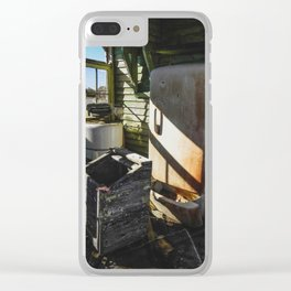 Rusting Relics Clear iPhone Case