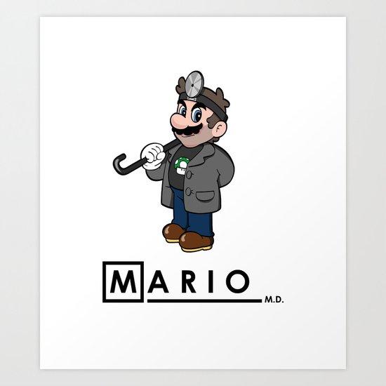 Mario M.D. Art Print