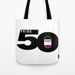 50 Pride Asexual Pride Flag Tote Bag