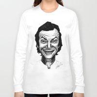 jack nicholson Long Sleeve T-shirts featuring JACK NICHOLSON by Simone Bellenoit : Art & Illustration