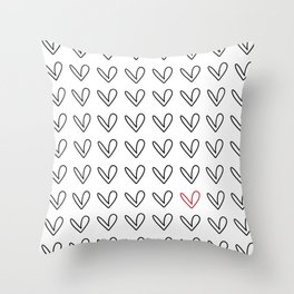 HEARTS ALL OVER PATTERN III Throw Pillow