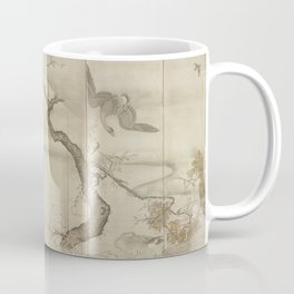 Sesshu Toyo - Birds and Flowers of the Four Seasons: Autumn and Winter Coffee Mug