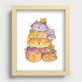 Sleeping Cats Recessed Framed Print