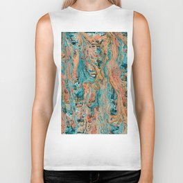 Colorful Artistic Background Biker Tank