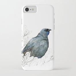 Kōkako, New Zealand native bird iPhone Case