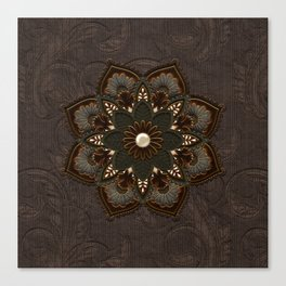 Steampunk, beautiful mandala Canvas Print