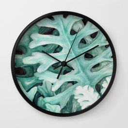dusty miller Wall Clock